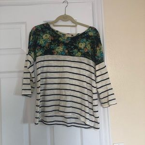 Anthropology 3/4 Sleeve Top